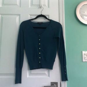 Primark Soft Teal Cardigan Button Up Top